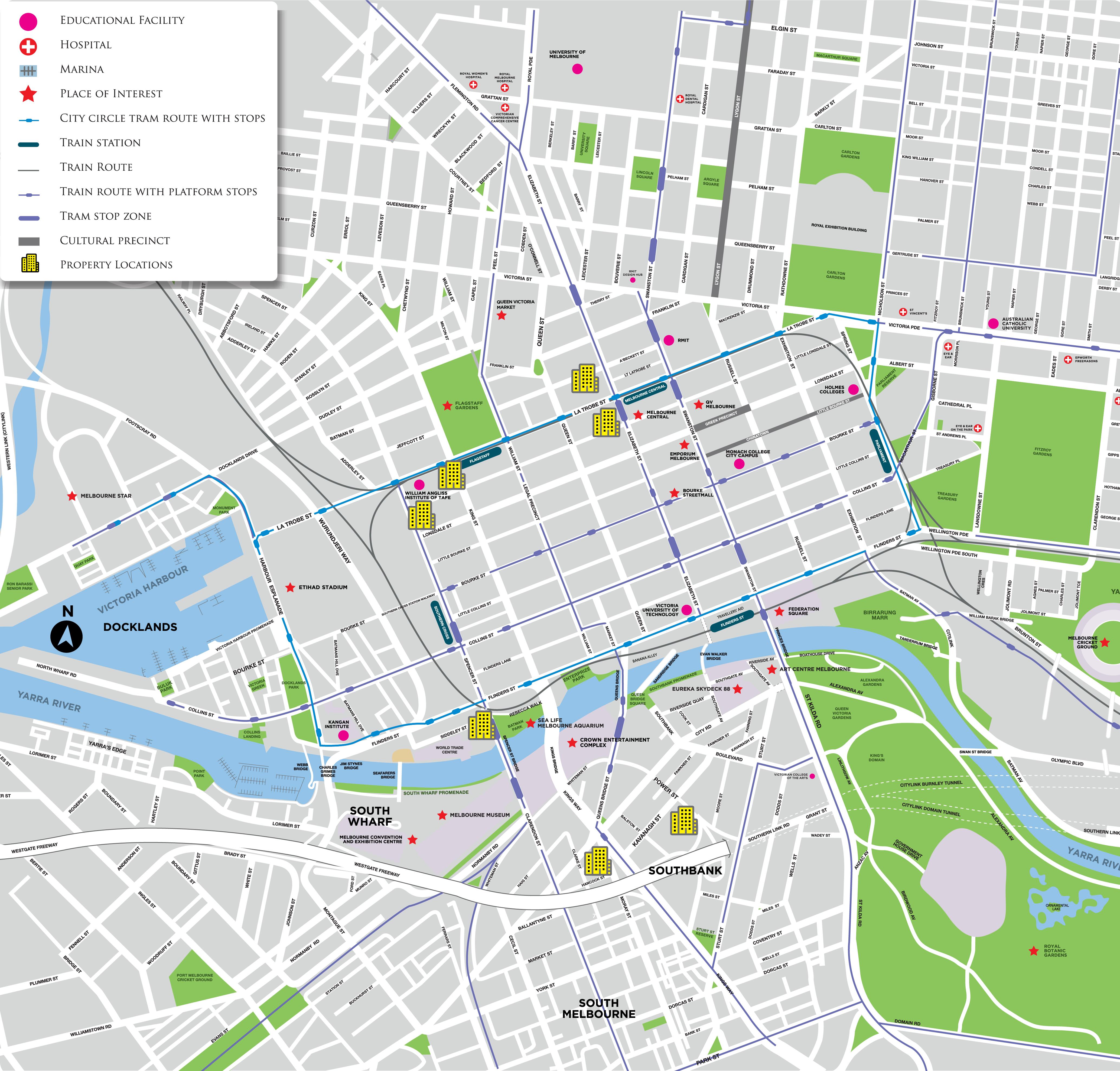 Melbourne Maps